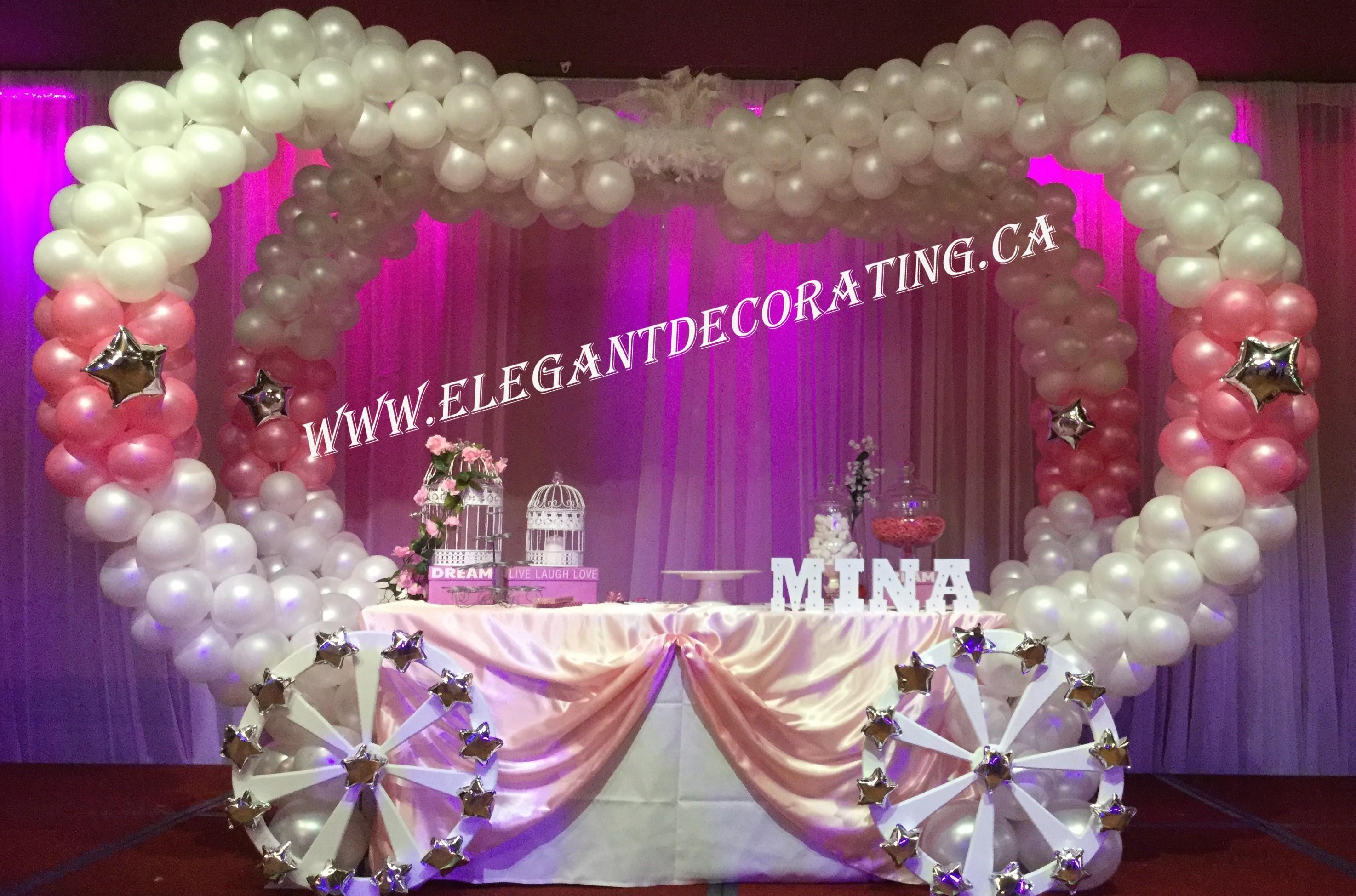 First Birthday Balloon Princess Carriage Decor Ideas Edmonton Events Wedding Rentals