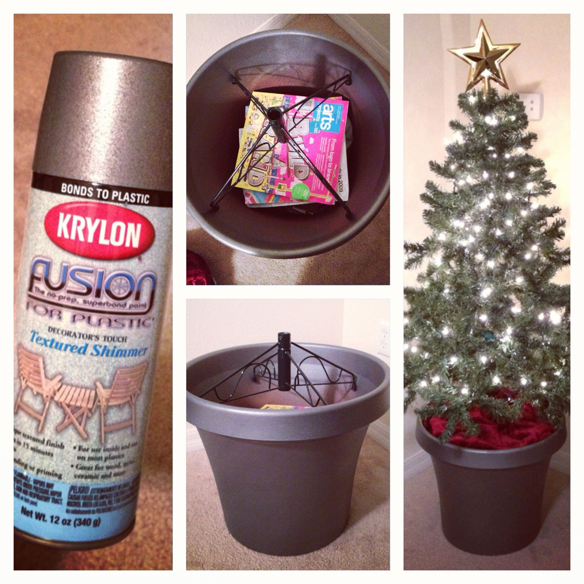 Make Your Short Fake Christmas Tree Taller And Better 1 Find A