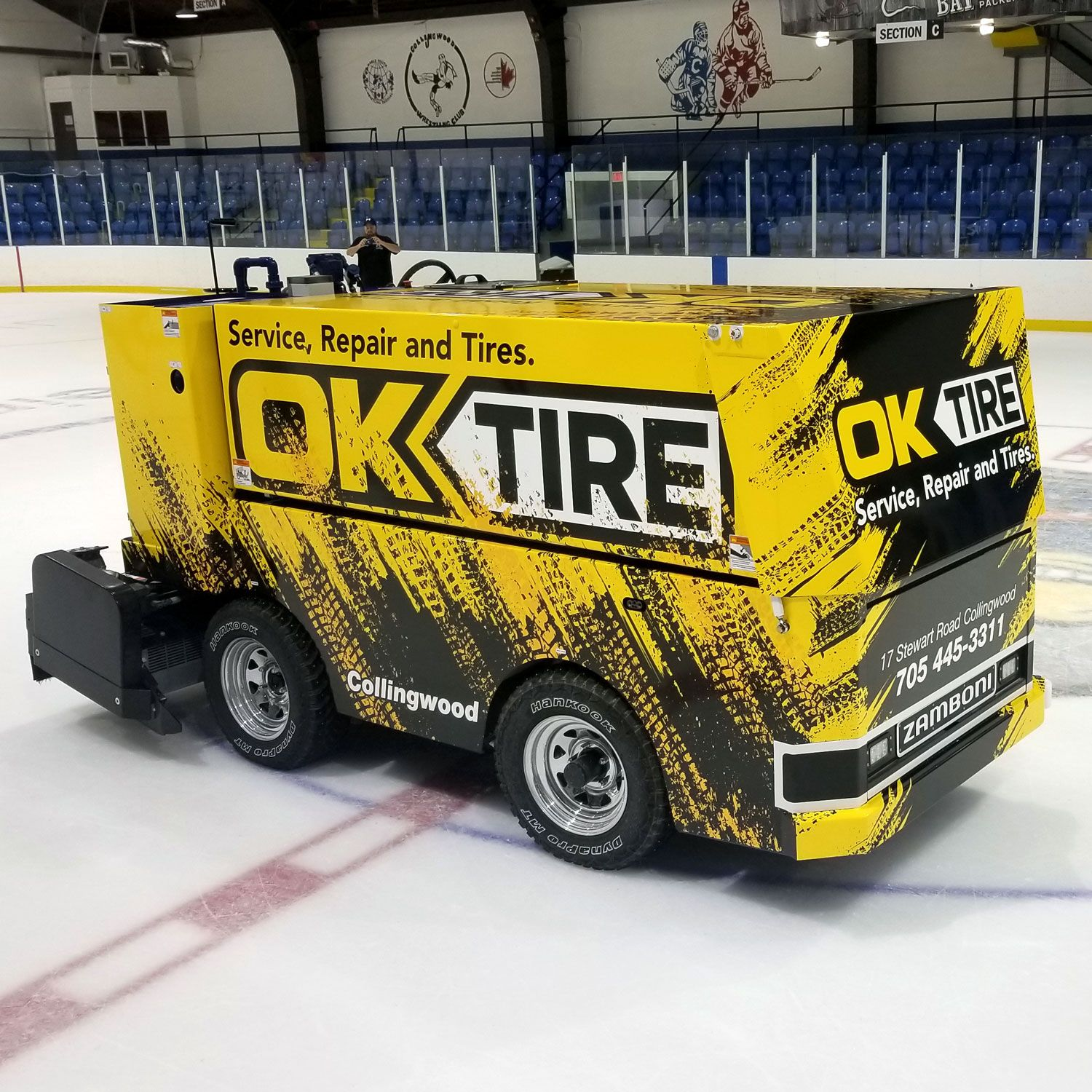 We Had A Fun Time Wrapping Two Zamboni S For