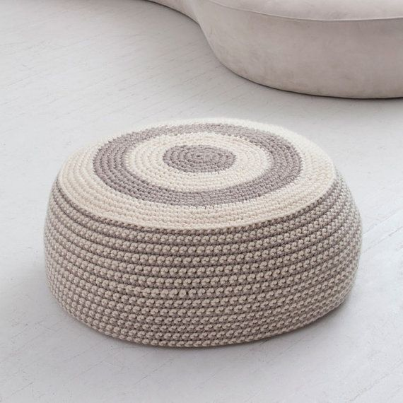 Large Pouf Ottoman Brilliant Large Crochet Pouf Ottoman Floor Cushion Pdfnatalyneedles  Home Inspiration Design