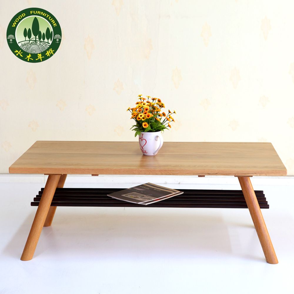 Mizuki Japanese-style coffee table in birch wood American white oak ...