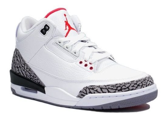 nike air jordan 3 white cement