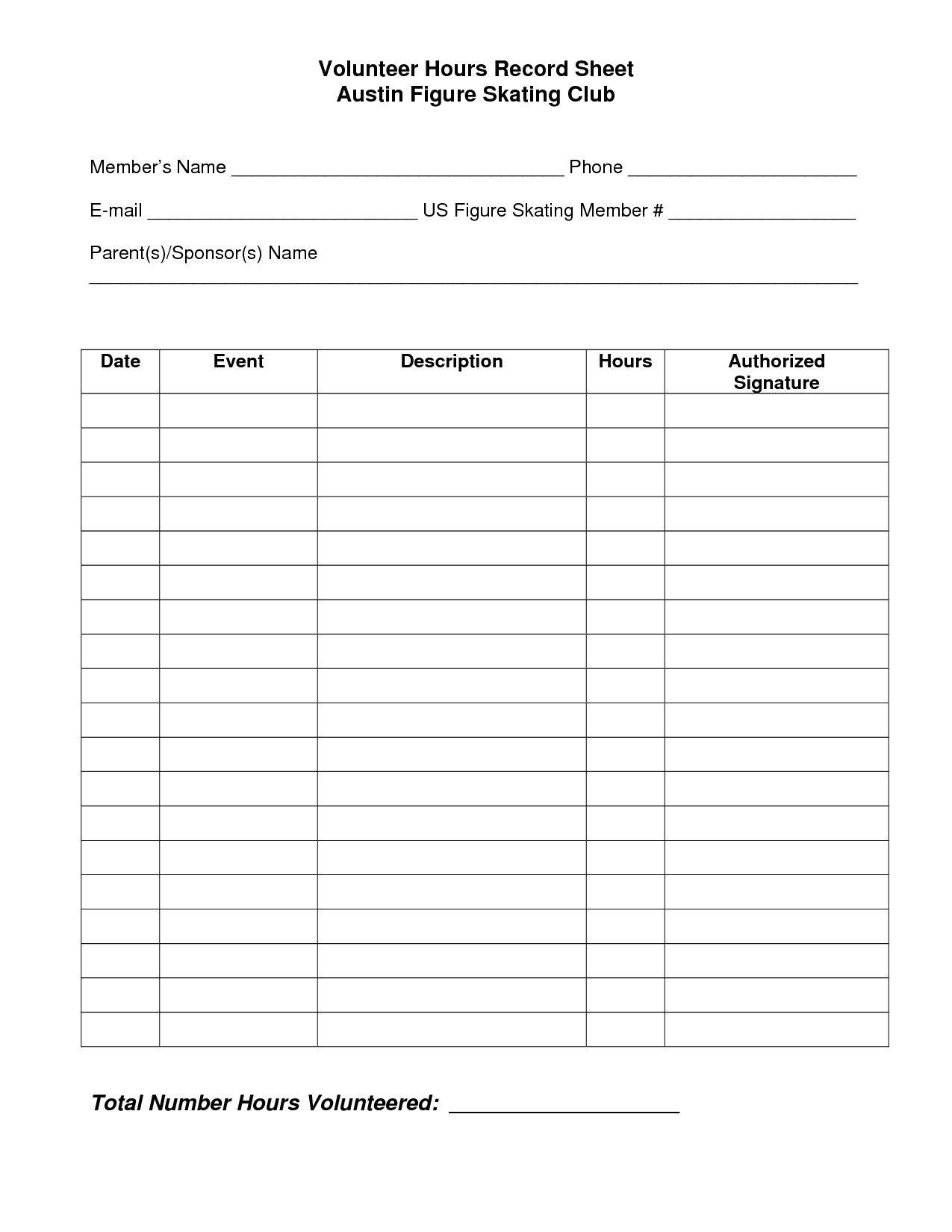 Classified Food Journal Worksheet
