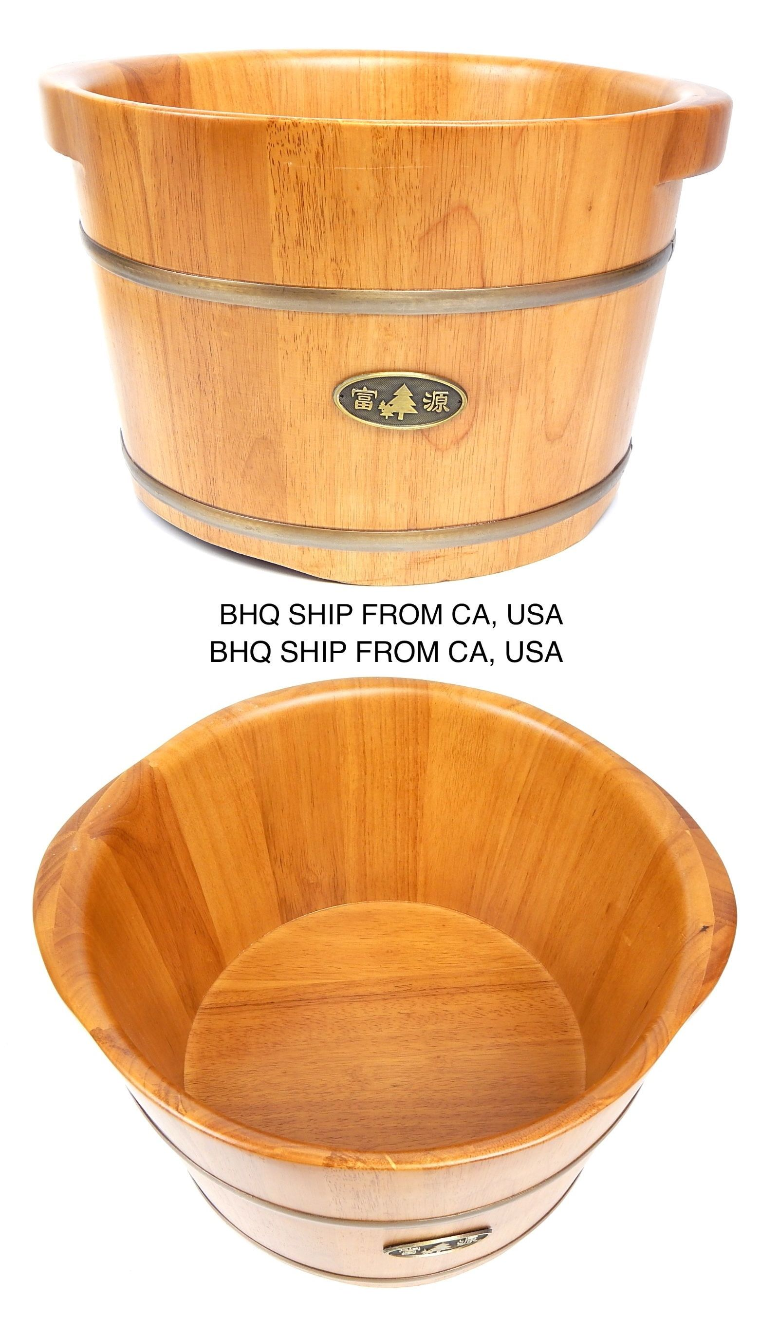 Spas Baths and Supplies: Round Wooden Foot Soaking Tub + 50 Pcs ...