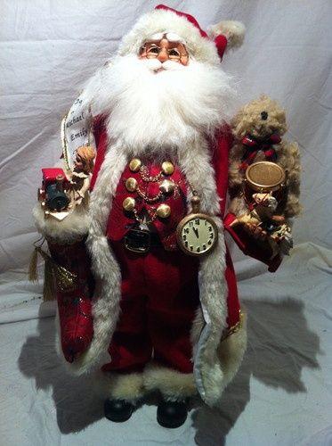 New Karen Didion Christmas Toy Stocking Santa | eBay