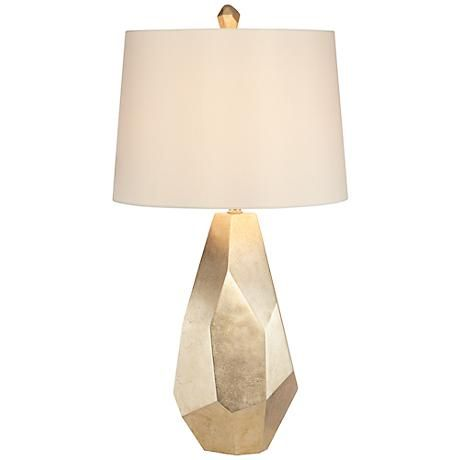 Avizza Faceted Champagne Table Lamp 6h388 Lamps Plus Geometric Table Lamp Gold Table Lamp Table Lamp