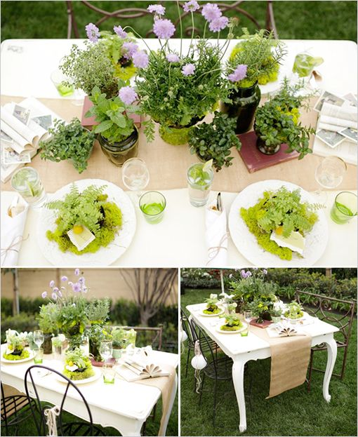 Outdoor Wedding Shower Ideas Part - 28: Indoor Garden Party Bridal Shower