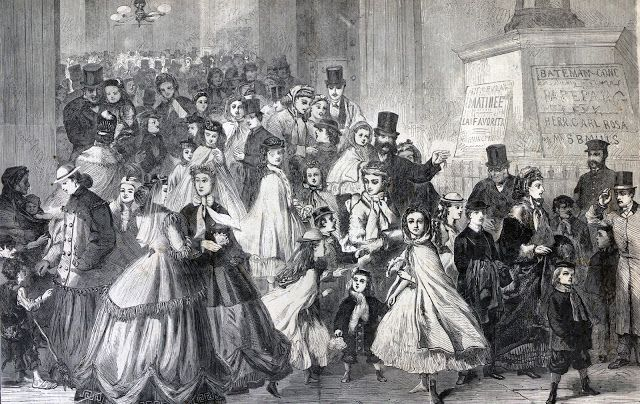 Leaving The Matinee Harper S Weekly Magazine February 10 1866