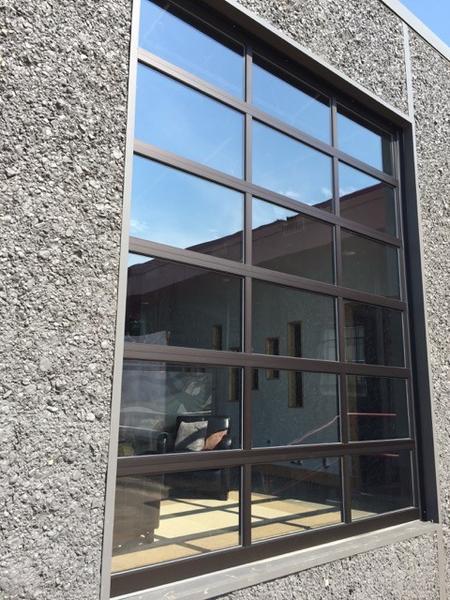 Contemporary Aluminum Clear Tempered Glass Garage Door House Ideas In 2020 Garage Door Styles Garage Door Types Garage Doors