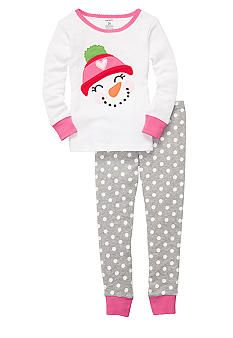 90aa503f0 Rachel - Carter s® 2-Piece Snowman Pajama Set Toddler Girls
