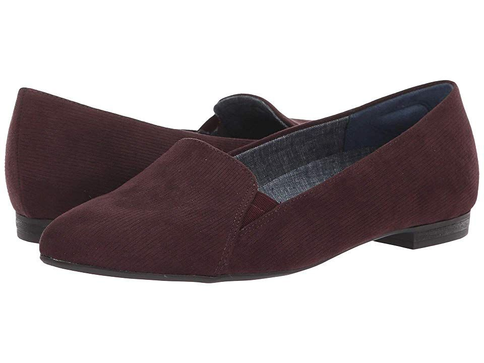 ef1db9da18c5 Dr. Scholl's Anyways (Merlot Linear Microfiber) Women's Shoes. Always look  your best
