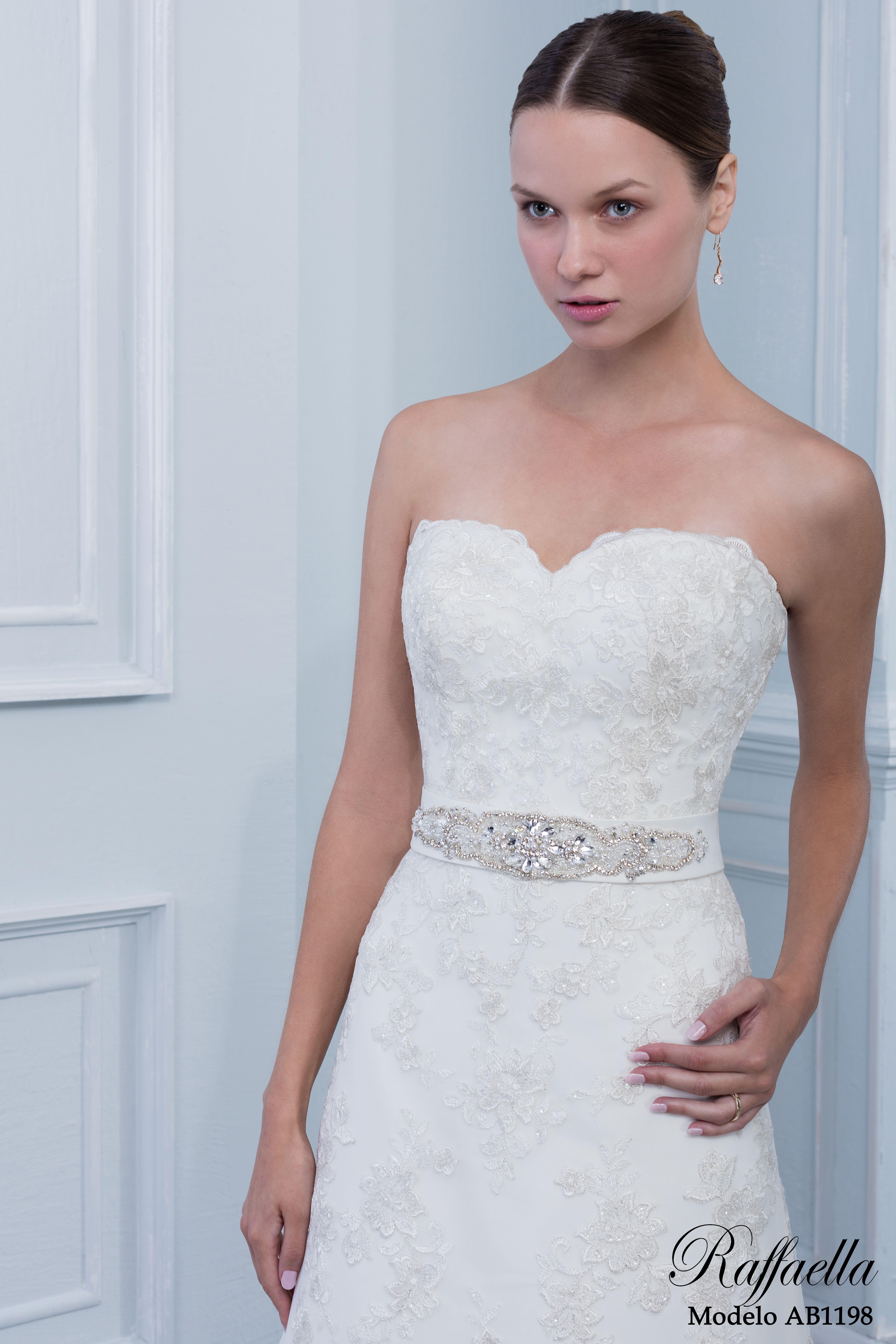Dí que sí al AB1198! Espectacular vestido de novia con elegante ...