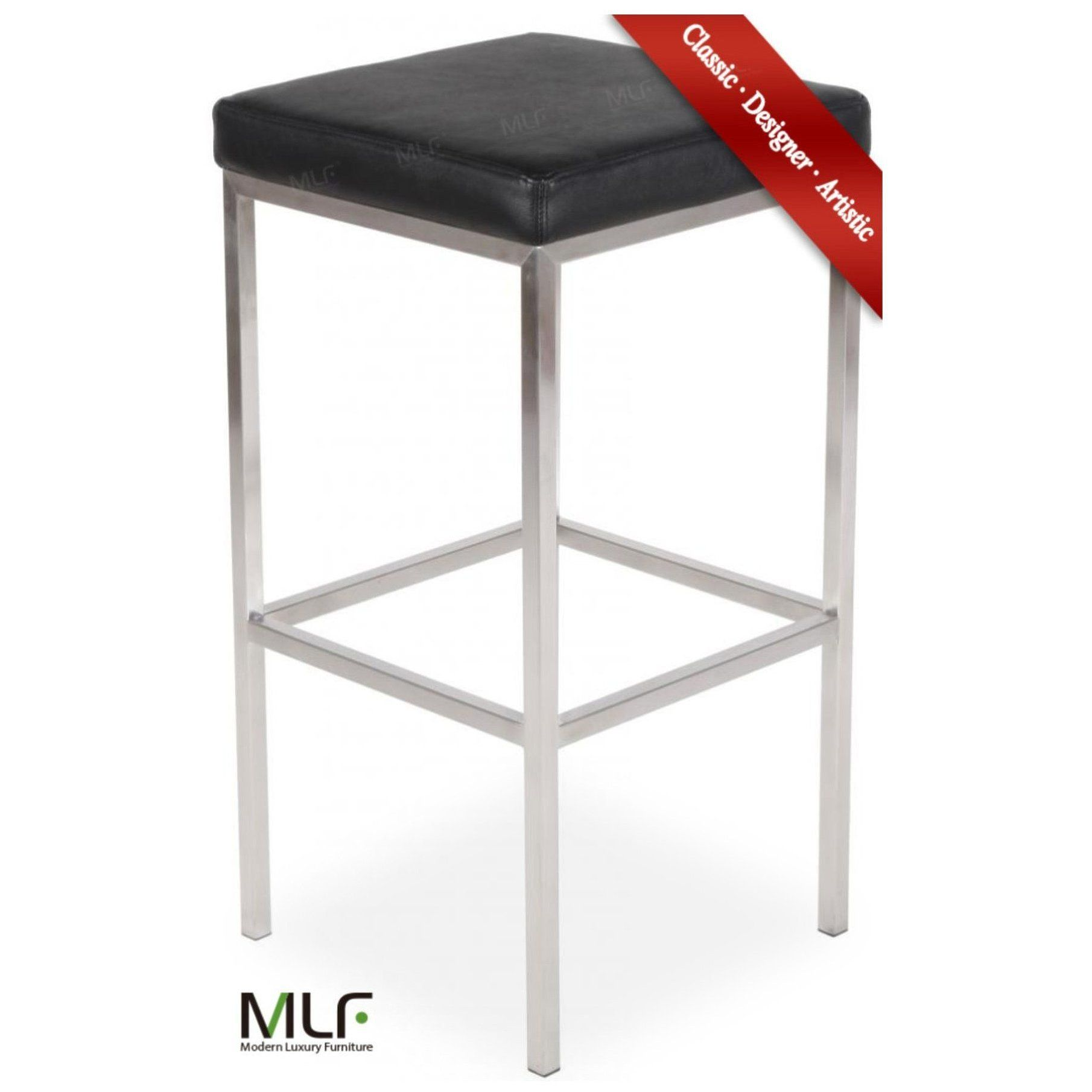 Mlf Sgabello Cube Leggero Bar Stool Chair No Back 2 Colors Italian