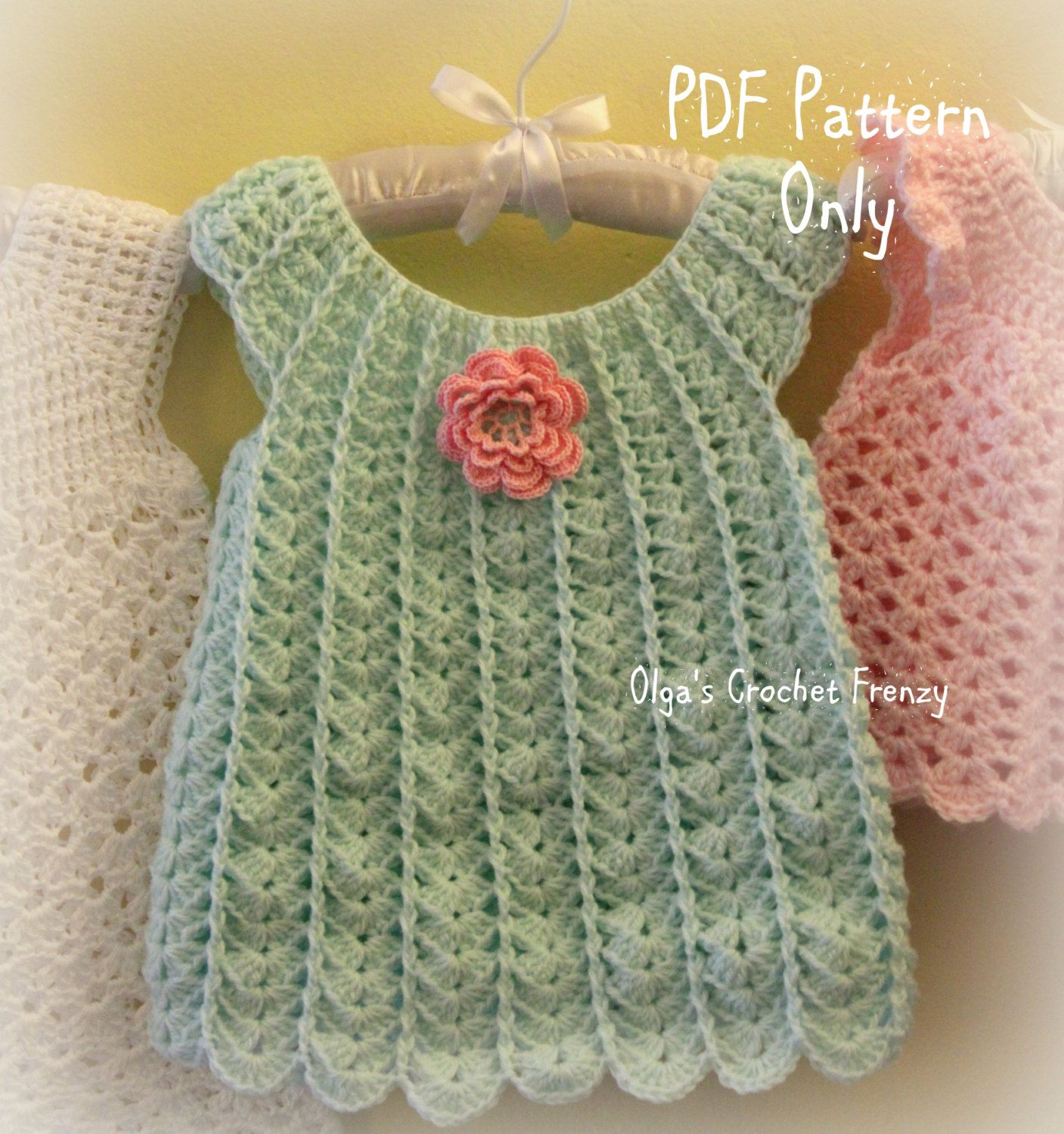 Shells baby dress crochet pattern size 3 6 months easy to make shells baby dress crochet pattern size 3 6 by olgascrochetfrenzy bankloansurffo Choice Image