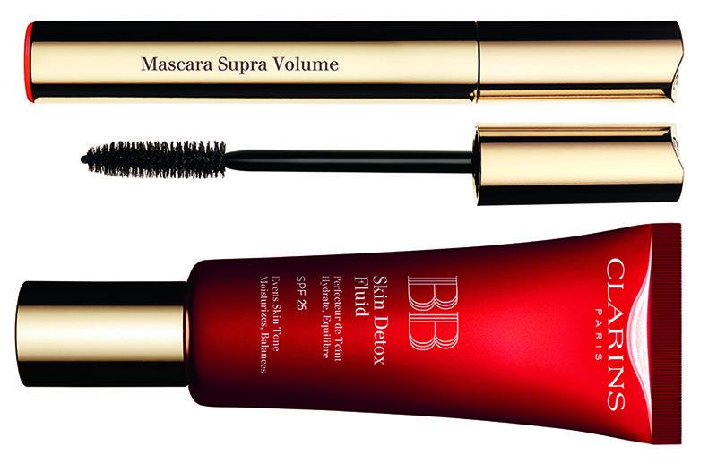 Clarins Makeup Collection for Autumn 2016 | Mascara Supra Volume and BB Skin Detox Fluid SPF 25