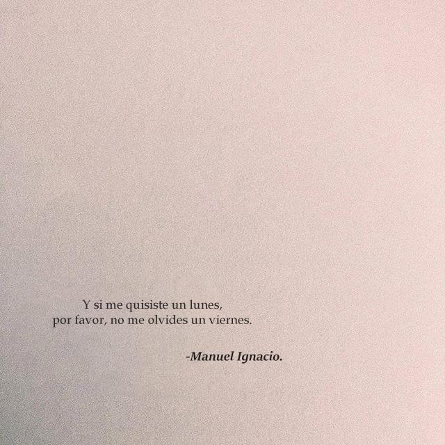 El Chico De La Poesia Manuel Ignacio Citas De