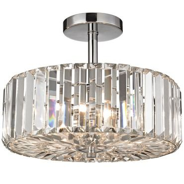 Clearview semi flush ceiling light elk lighting at lightology front entry pinterest elk lighting elk and ceiling