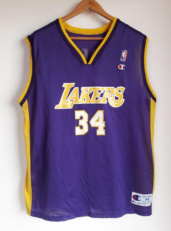 ed53fbb0967e Vintage 90s Champion Shaquille O  Neal Los Angeles Lakers  34 Jersey Men s  44