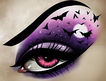 How To Draw Halloween Eye Makeup Halloween Eyes Halloween Eye Makeup Drawings