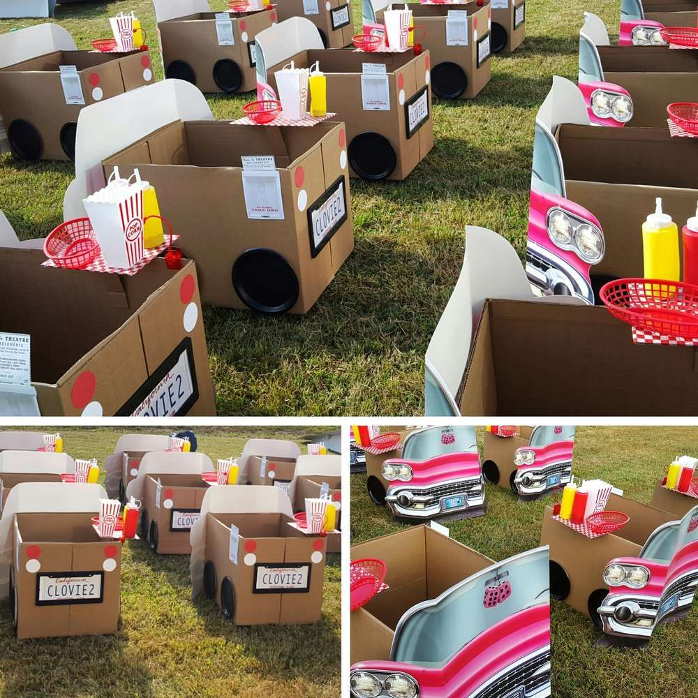 1950 S Drive In Birthday Party Ideas Photo 1 Of 7 Movie Birthday Party Firetruck Birthday Party Trucks Birthday Party