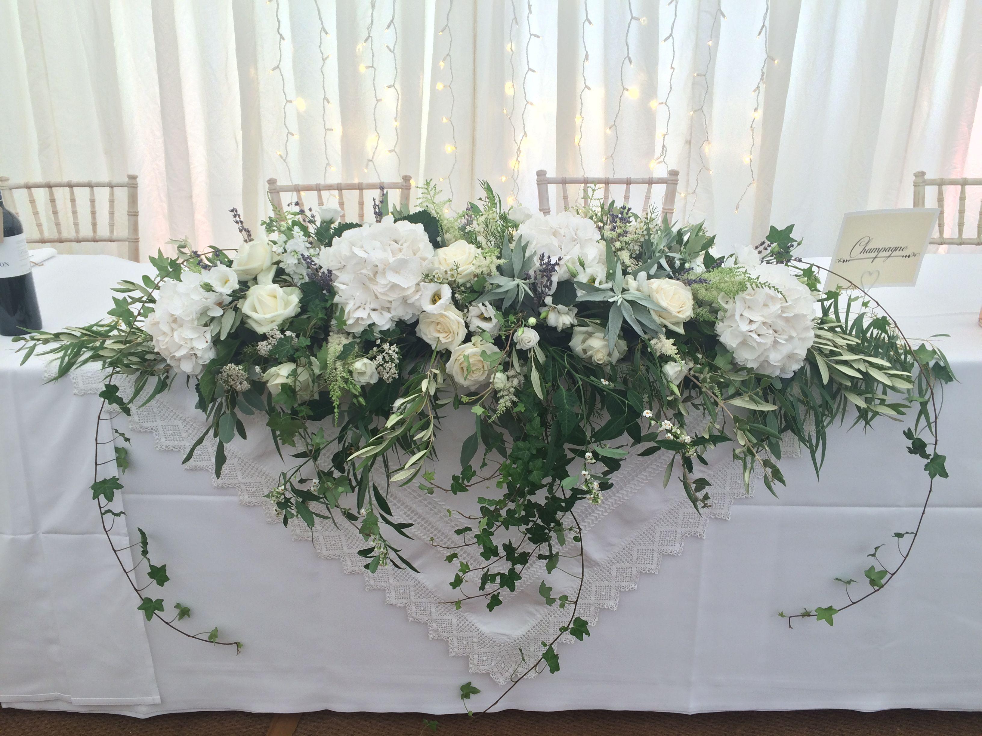 White Long Low Jilljeffries Com Bridal Table Flowers Wedding