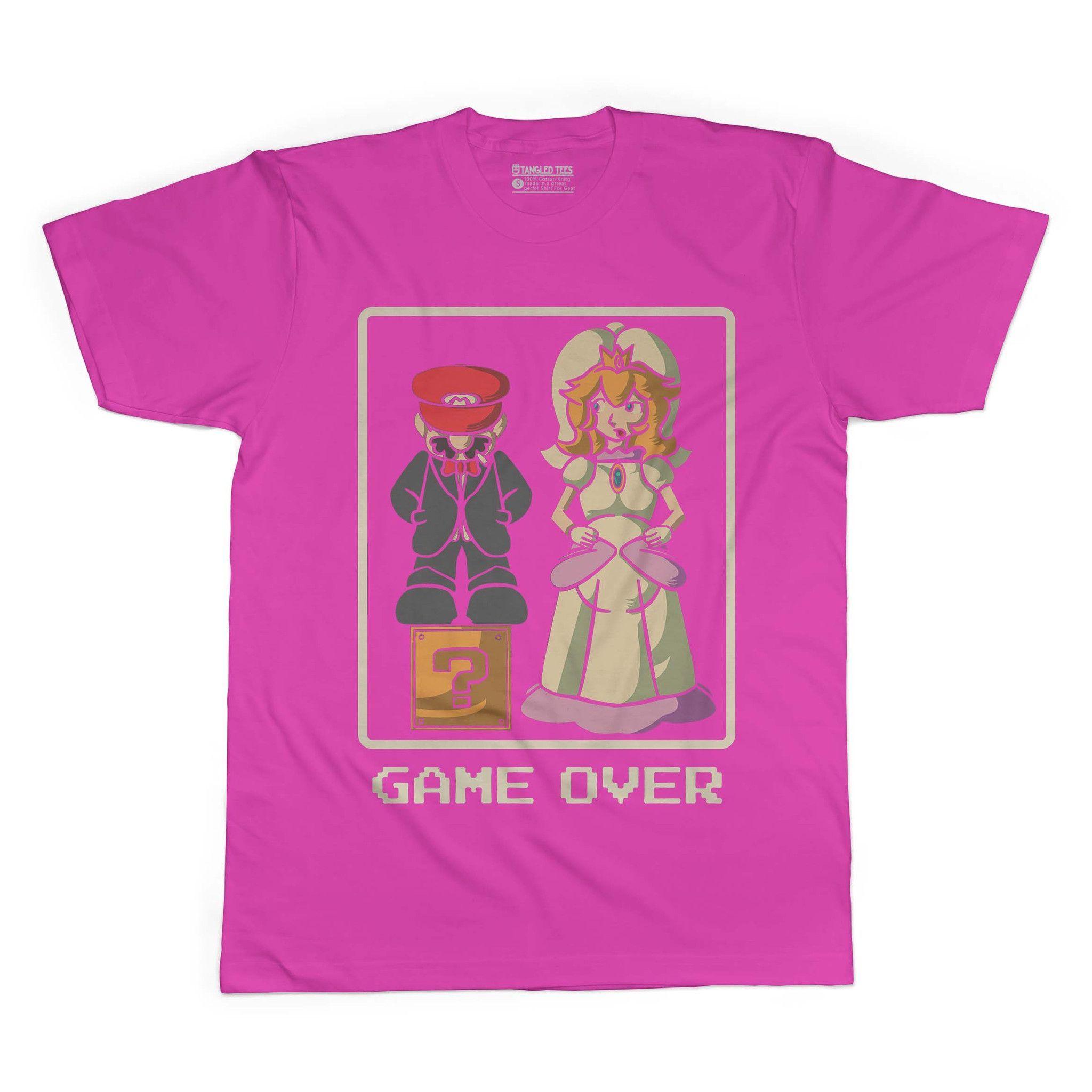 Game Over Adult Tee Shirt