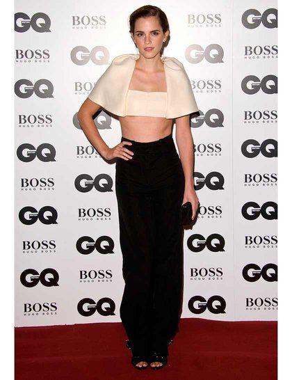 Emma Watson wearing Balenciaga at the GQ Men of the Year Awards 2013