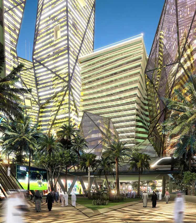 King Abdullah Financial District Riyadh Henning Larsen Architects Financial District Urban Landscape Landscape