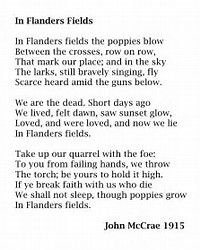 Image Result For Poem In Flander Field Printable Poppie High School Ela Paraphrase