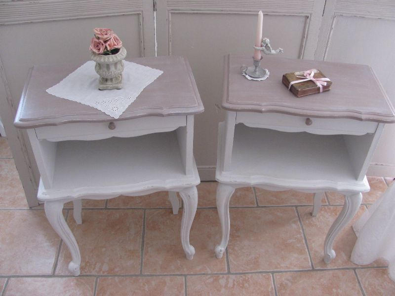 table de nuit patiné, cuisine 008 Pink Pinterest Tables de - Peindre Table De Chevet