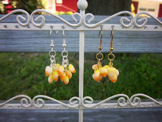 Halloween Heart Candy Corn L... from ThreadedChains on Wanelo