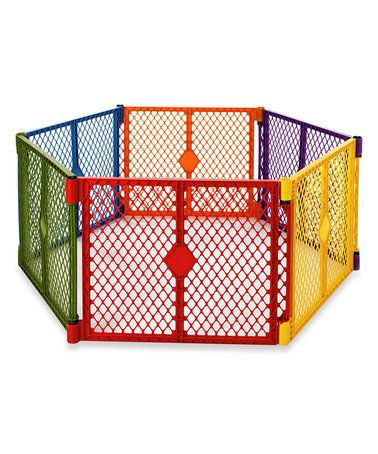 Superyard Portable 6-Panel Playard Indoor Outdoor Baby Safety Play Area Fence