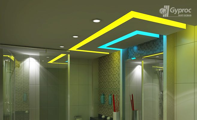 Bathroom drop ceiling ideas for Fall ceiling designs for bathroom