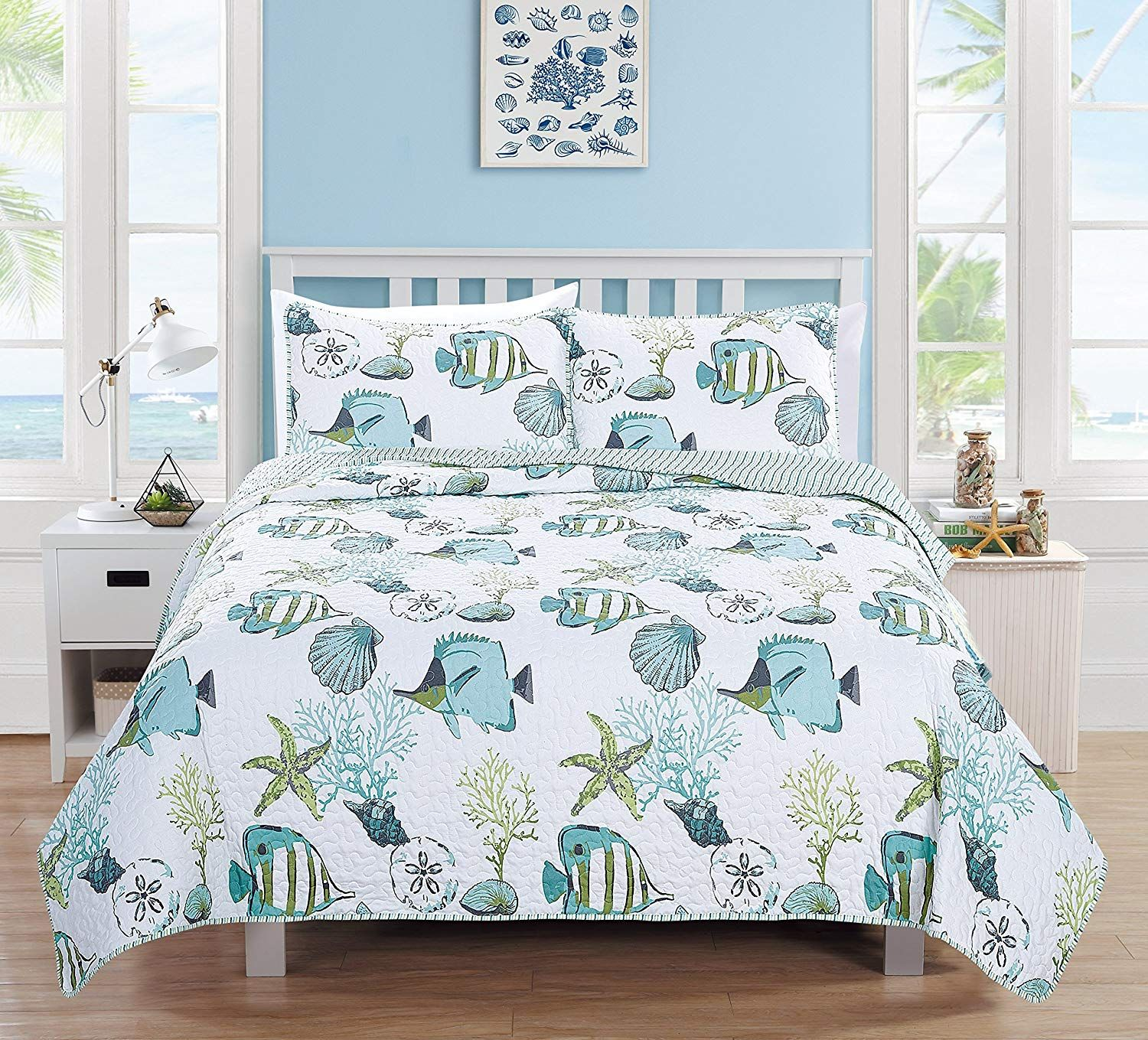 Beach Comforters Quilts Ease Bedding With Style Beach