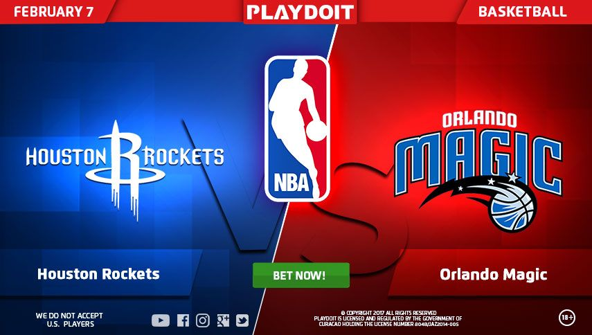 Enjoy your Tuesday afternoon with Playdoit and NBA betting on Houston Rockets vs Onlando Magic match!  Register now and play with us!