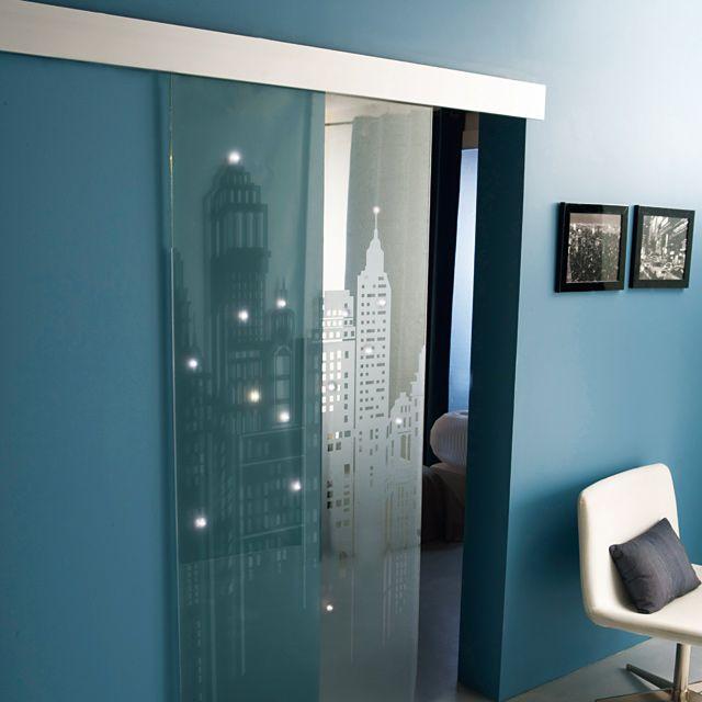Système coulissant pour pose applique porte verre GEOM Kidal Pose - pose de porte interieur