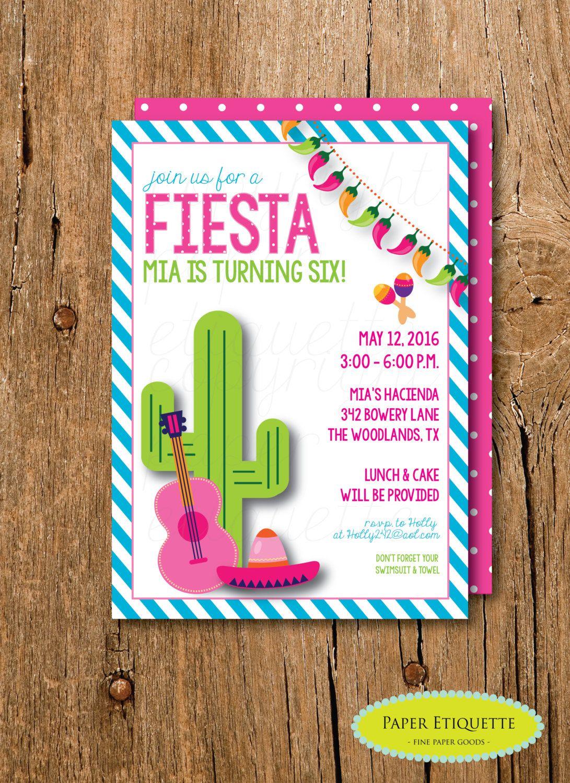 Baby Shower Invitation Fiesta Baby personalised invitation cards ...