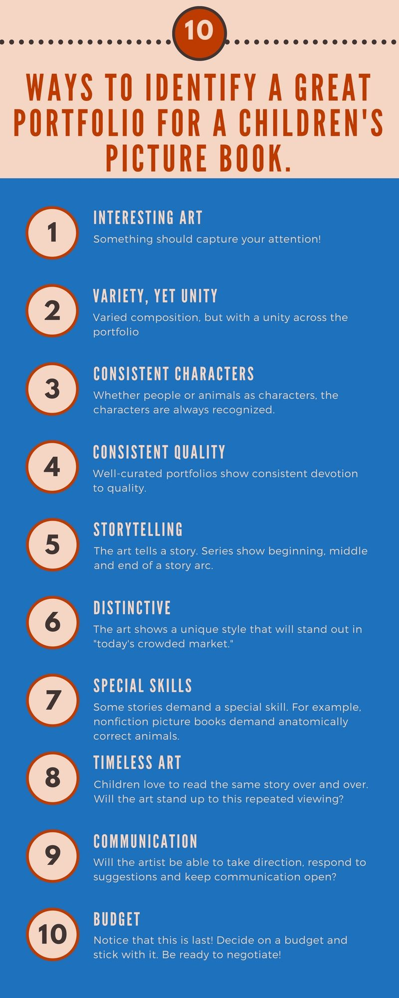 Infographic: How to find a great Illustrator for your self-published children's book. #self-publish #childrenbook