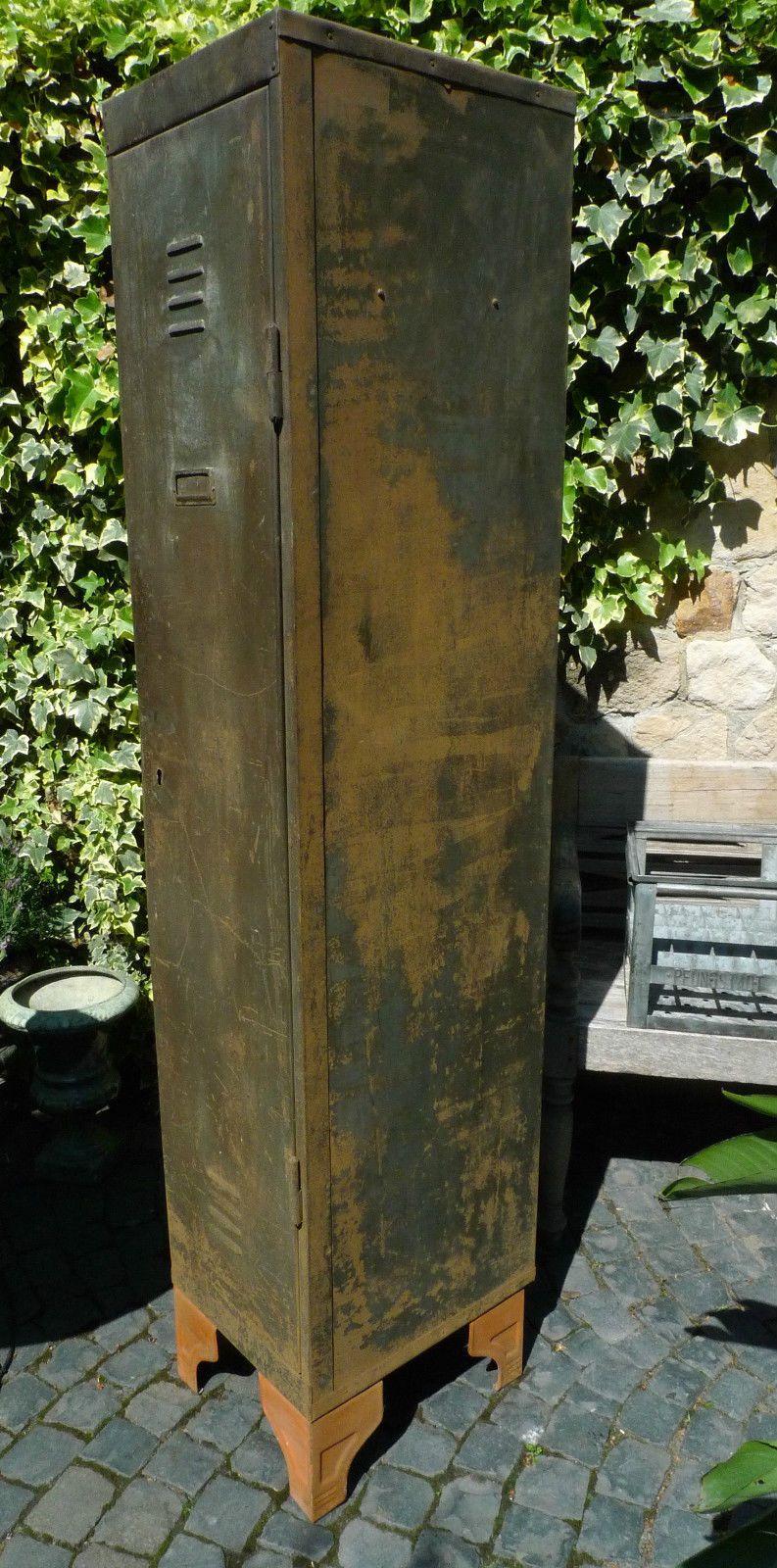 Alter 1 Tur Metallschrank Spind Werkstatt Loft Fabrik Industriedesign Vintage Ebay Industriedesign Vintage Metallschranke Aufbewahrungskorbe