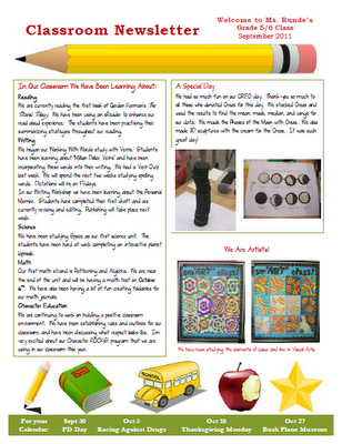 My NEW Classroom Newsletter