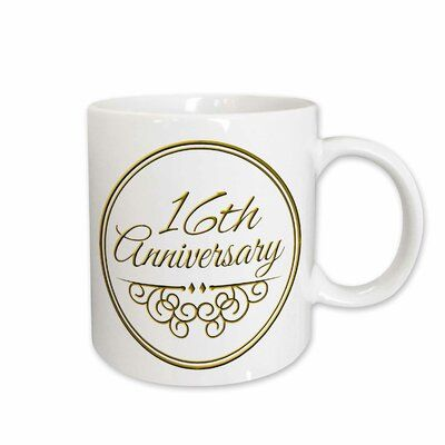 East Urban Home 16th Anniversary Gift for Celebrating Wedding Anniversaries Coffee Mug #20thanniversarywedding