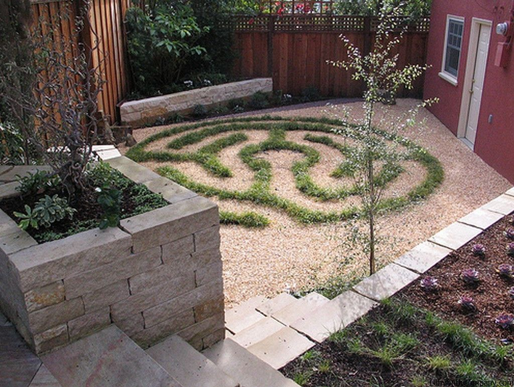 walking the labyrinth this small space is so interesting and simple this garden was designed by beth mullins of grows green landscape design