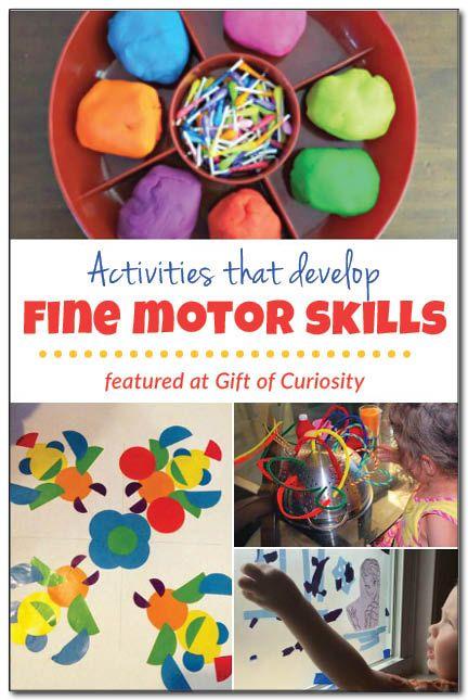 Activities that develop fine motor skills {Weekly Kids' Co-op}