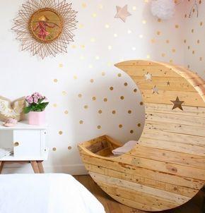 Babybett Selber Bauen mondschaukel aus europaletten mit sternen babybett selber bauen