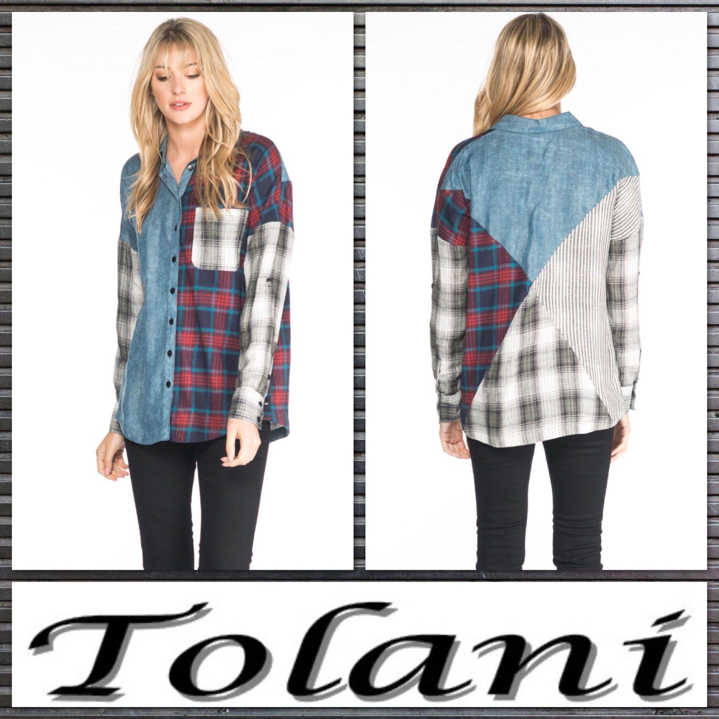 c905006779683c Patchwork Perfect! We Love this new big shirt.  Tolani  madeinindia  Save30%