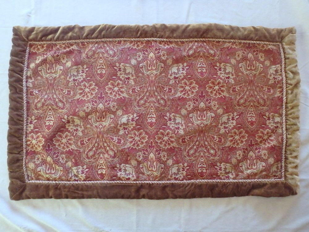 Springs Global Indienne Floral Tapestry Large Pillowcase Sham plush trim 37x21 #SpringsGlobal #FrenchCountry