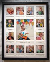 This Baby S First Year Frame Model Kgf Is Personalized And Custom Made Babies First Year Frame First Birthday Photos