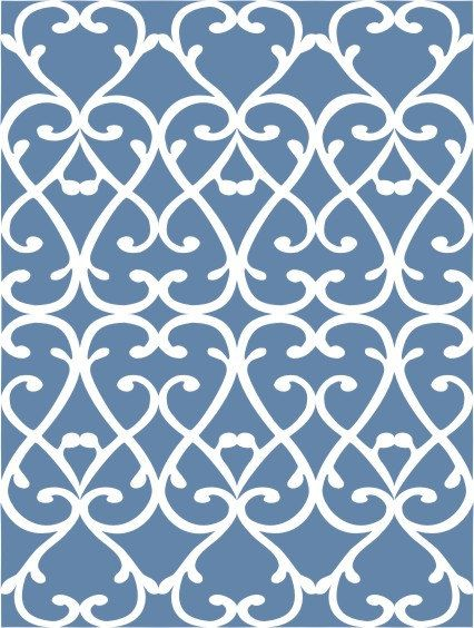Amour Wallpaper Stencil Painting Stencil by VictoriaLarsenDecor, $28.99
