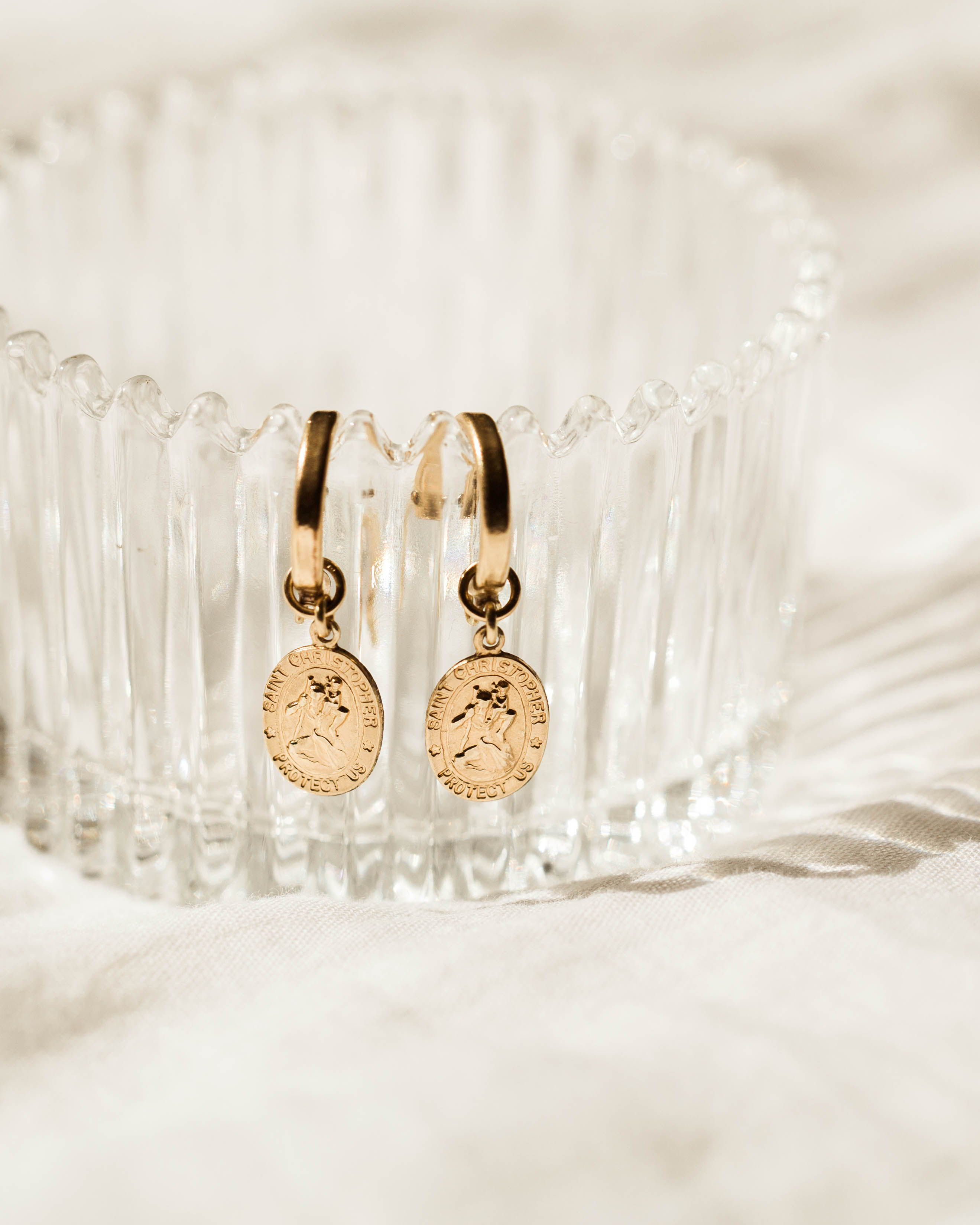 Photo of St. Christopher Earrings