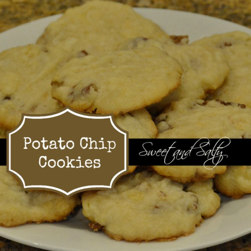 Sweet and Salty Potato Chip Cookies #potatochipcookies Potato Chip Cookies Finished 1 #potatochipcookies